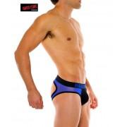 Go Softwear After Dark Flaunt Jock Brief Jock Strap Underwear Black/Royal Blue 4310