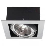 Kanlux 4960 MATEO DLP-150-GRAR-111, beltéri mélysugárzó, E27 foglalattal, 1x50 W teljesítménnyel, szürke színben, IP20-as védelemmel, 12 V, ( süllyesztett szereléssel ), lámpatest és keret: acéllemez; reflektor: alumínium