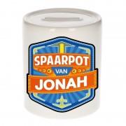 Bellatio Decorations Vrolijke kinder spaarpot voor Jonah