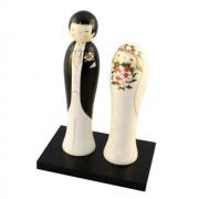 Japonské panenky Kokeshi Kekkonshiki Svatba 25,5 cm