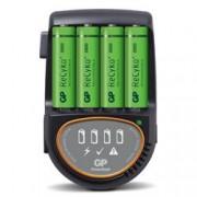 Gp Batteries Caricabatterie Rapido 4 AA/AAA con 4 batterie AA 2600mAh USB/Auto