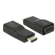 DeLock Adapter HDMI male > VGA female Black 65655