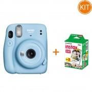 Kit Fujifilm Instax Mini 11 Blue + Set de 20 Hartii Foto