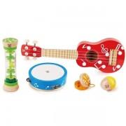 Hape Set Petit Musiciens 5 instruments en bois Hape® - Jouets en bois