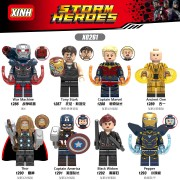 Thor X0261 Thor Ancient One Pepper Iron Man Captain Marvel War Machine Building Blocks Toys for Children