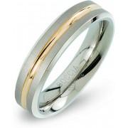 Unknown Boccia Titanium 0144.02 ring - Titanium - Zilver en goudkleurig - Maat 19.00