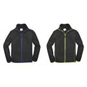 TERRAX WORKWEAR Fleecejacke in leichter Qualität, Farbe schwarz/royal, Gr.XL