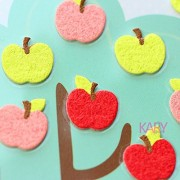 TOYSFORKARRY Apples Plants Fruit Trees Orchard Sponge Sticker - Multi Color