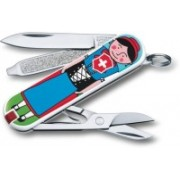 Victorinox Classic �Appenzeller�, 58 Mm, On Small Blister 3 Function Multi Utility Swiss Knife(Multicolor)