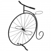 [neu.haus]® Soporte para macetas plantas decorativo - bicicleta antigua para 3 macetas para flores