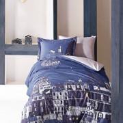 Set lenjerie de pat pentru copii, Marie Claire, bumbac ranforce, 160 x 240 cm, 153MCL2167, Albastru