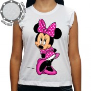 Camiseta Minnie Mouse Rosa Meiga