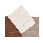 Set Prosoape De Maini Beverly Hills Polo Club Cream Brown, 100% bumbac, 3 bucati, crem, maro, alb, 50x100 cm