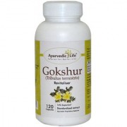 Ayurvedic Life Gokshura powder and extract - 120 capsule 400 mg Hygenically processed capsules for strenght and vitality