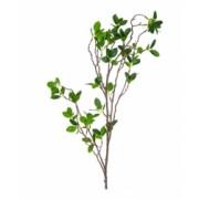 Planta artificiala ornamentala ramura cu frunze verzi pentru decor lungime 105 cm Topi Toy