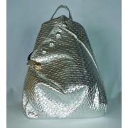 Ezüst dizájn hátizsák