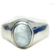 YogiGems 3.25 Ratti Certified Natural Aquamarine Sterling Silver Bold Ring