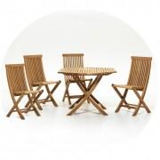 Solhem Viken matgrupp bord 110 cm 4 stolar, skargaarden