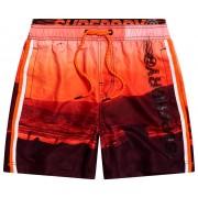 Super Dry State Volley Swim Short heren beach short - Oranje - Size: Large