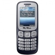 My Max 312 Dual Sim Mobile Phone With 1.8 Inch Display 1050 Mah Battery With Vibration (Black Color)