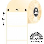 75 * 50 mm-es, 1 pályás papír etikett címke (1400 címke/tekercs)