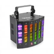 Beamz Magic 2, derby, R/G laser, строб / UV светлинен ефект, 9 DMX канала, черен (Sky-153.734)