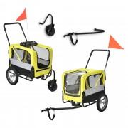 [pro.tec] Prepravný vozík za bicykel ABBT-3153 žltý