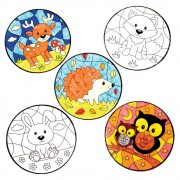Baker Ross Woodland Animal Colour-in Window Decorations (Pack of 12)