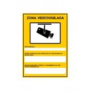 Cartel de Zona Videovigilada METÁLICO Homologado A4 RGPD