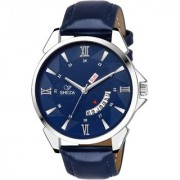 V Sheza Blue Day And Date Series Watch For Men And Boys (VS-5001)