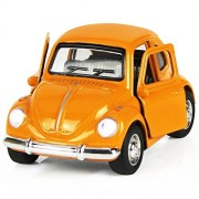 Alloy Diecast Car, Push and Pull Back mini vehicles with Lights and Sounds Early Educational and Learning Toys for 2, 3, 4, 5, Year Old Little Kids, Preschool, Boys and Girls - iPlay, iLearnorange)