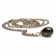 Trollbeads TAGFA-00005 Ketting Fantasy zilver/onix zilverkleurig-zwart 100 cm