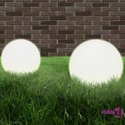 vidaXL LED kuglasta svjetiljka 2 kom 40 cm PMMA