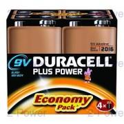 Duracell Plus Power 9v 4-Pack