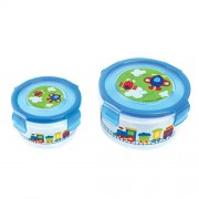 Stephen Joseph Transport Nested Snack Containers (Two Set)