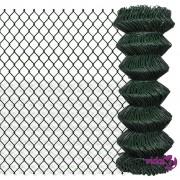 vidaXL Žičana ograda od pocinčanog čelika 1 x 15 m zelena