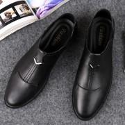 Zachte en comfortabele outdoor casual lederen schoenen voor mannen (kleur: zwart maat: 37)