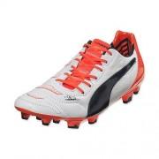 Adidas Scarpe Puma Evopower 1.2 pelle FG calcio (bianco-arancio)