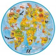 Puzzle XXL Lumea Goki, 49 piese, diametru 45 cm