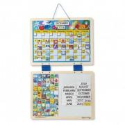 Calendar din lemn magnetic Melissa Doug