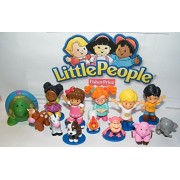 Fisher-Price Little People and Friends Deluxe Figure Set of 13 Toy Kit Featuring 5 Little People including Eddie, Mia, Koby, Farm Animal / Jungle Friends and Special Squirt Toy!