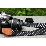 Onloon Patrón Punto Correa Hombro De La Cámara SLR DSLR Correa Para El Cuello Para Nikon Canon(negro/blanco Punto)