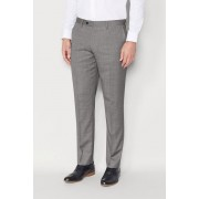 Mens Next Signature Italian Wool Suit: Tailored Fit Trousers - Light Grey