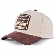 Boné BFMS Collection Bege Com Marrom Strapback Ajustavel