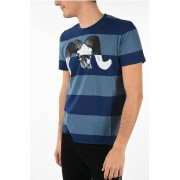 Just Cavalli T-shirt Girocollo a Righe con Stampa taglia 3xl