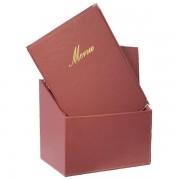 Portamenù Securit - bordeaux - Box portamenù - A4 - MC-BOX-CRA4-WR (conf.20) - 393350 - Securit
