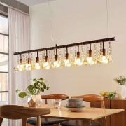 Lampenwelt.com Hanglamp Matei met 9 lampjes, roestkleuren
