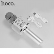 Microfon Karaoke Cu Difuzor Incorporat Argintiu