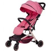 Polka Tots Stroller Compact Portable Soft Comfortable Safe Shockproof Pram for Babies Pink