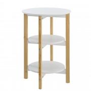[en.casa]® Kulatý stolek s poličkami AANT-0345